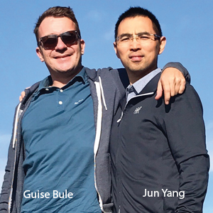 Guise Bule, Co-Founder & CEO; and Jun Yang, Co-Founder & CTO, WEBGAP