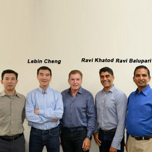 Lebin Cheng, Founder and CTO, Ravi Khatod, Founder and CEO, Ravi Balupari, Co-Founder and Head of Engineering and Security, CloudVector
